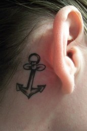 anchor-tattoos ancora nuca
