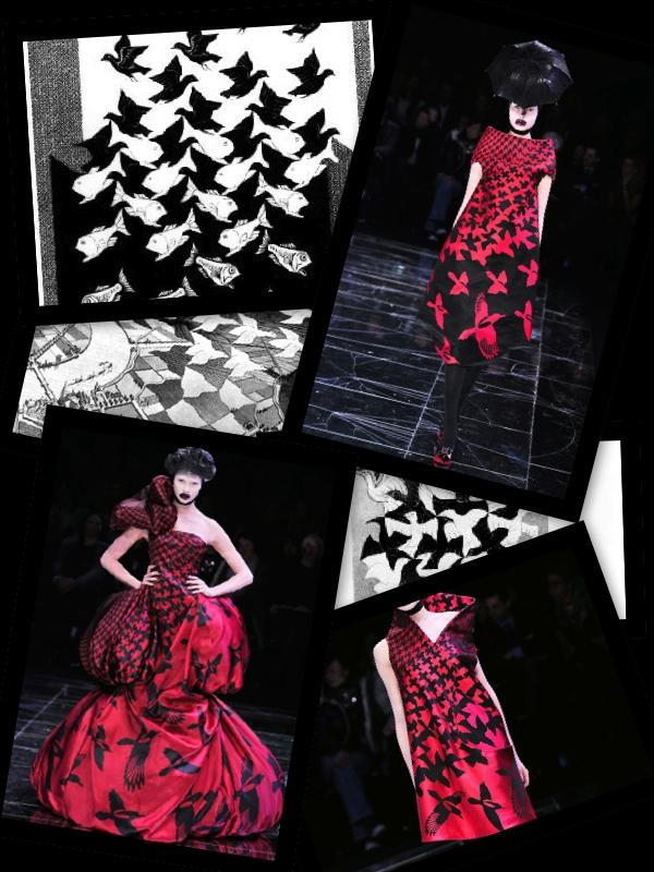 Alexander McQueen e M.C.Escher1
