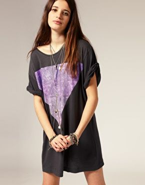 SomethingElseTriangleTShirtDress