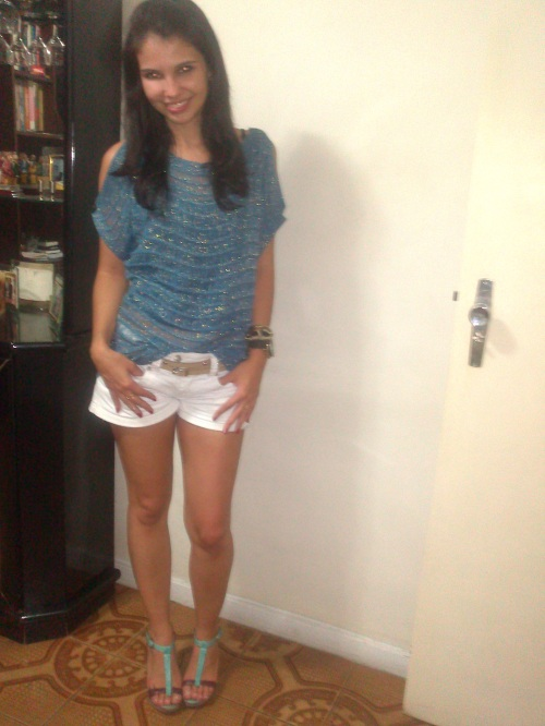 look_domingo_short branco_tricot
