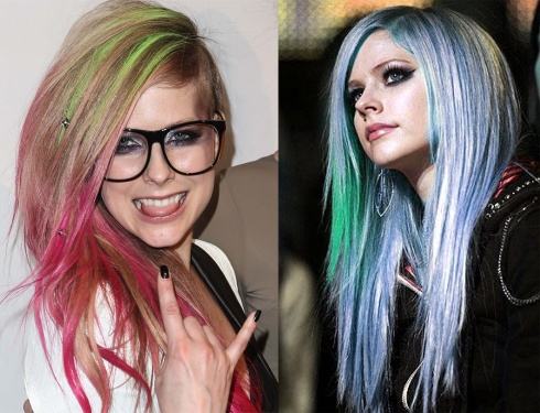 avril lavigne color hair