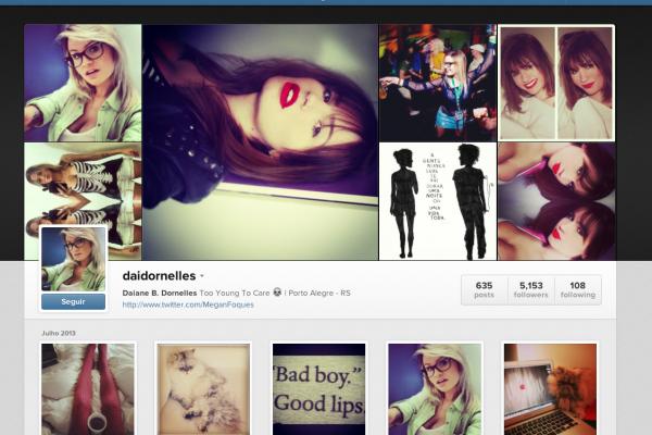 O antigo Instagram de Dai Dornellas