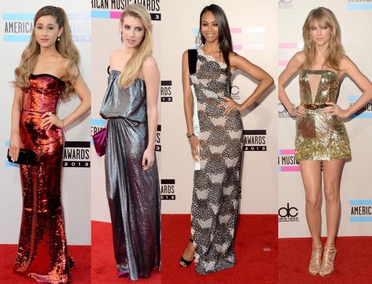 american-music-awards-ariana-grande-emma-roberts-zoe-saldana-taylor-swift