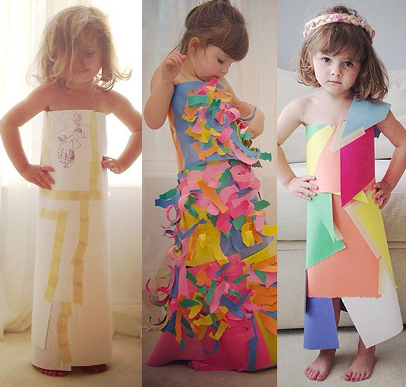 O vestido que começou a brincadeira e mais duas criações