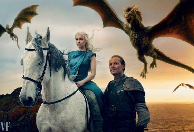 Daenerys Targaryen (♥) e seu braço direito, Sor Jorah Mormont.