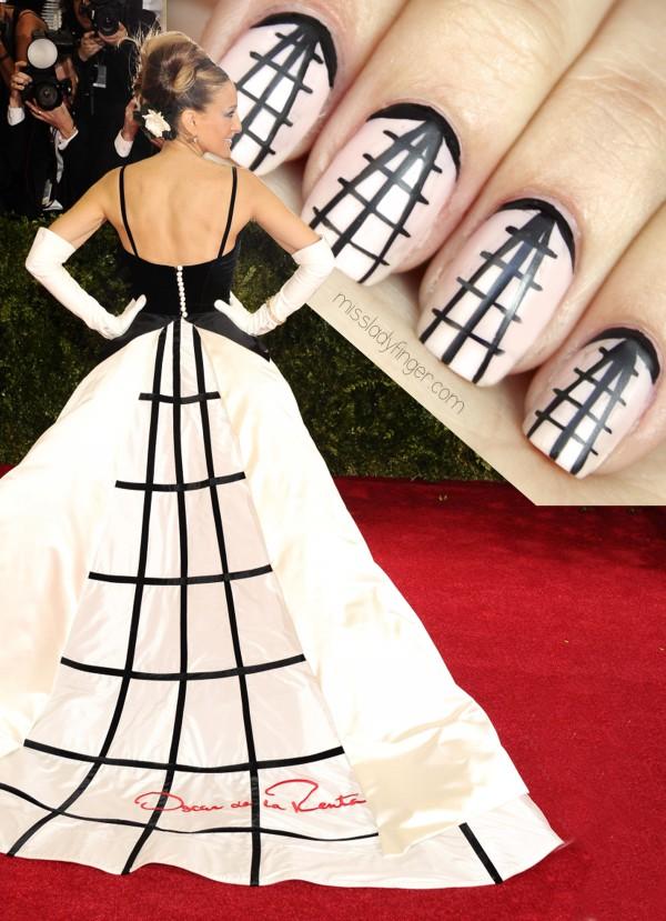 Sarah Jessica Parker veste Oscar de La Renta