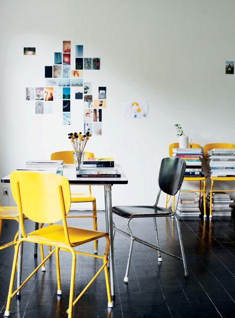 decoração-cadeira-colorida-amarela