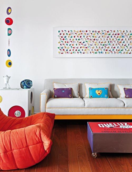 decoração-poltrona-laranja