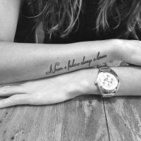 """Em inglês: """"Never a failure always a lesson"""" // Tradução: """"Nunca uma falha, sempre uma lição""""."""