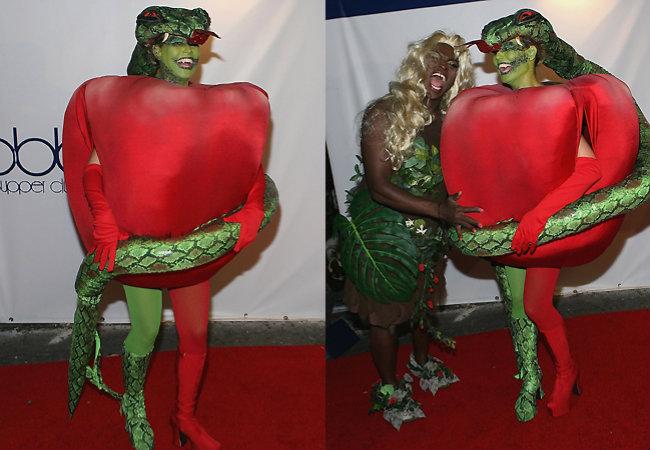Em 2006 Heidi e Seal vão de Eva e a maça do pecado (HAHAHA)