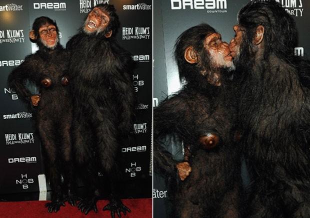 Em 2011, Heidi e Seal se inspiram em Planetas dos Macacos?