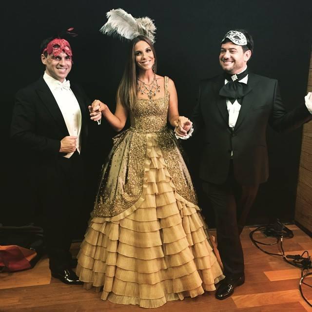 Sandro Barros, Ivete Sangalo e Bruno Astuto