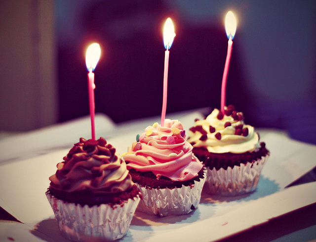 cupcake-aniversário-tres-anos