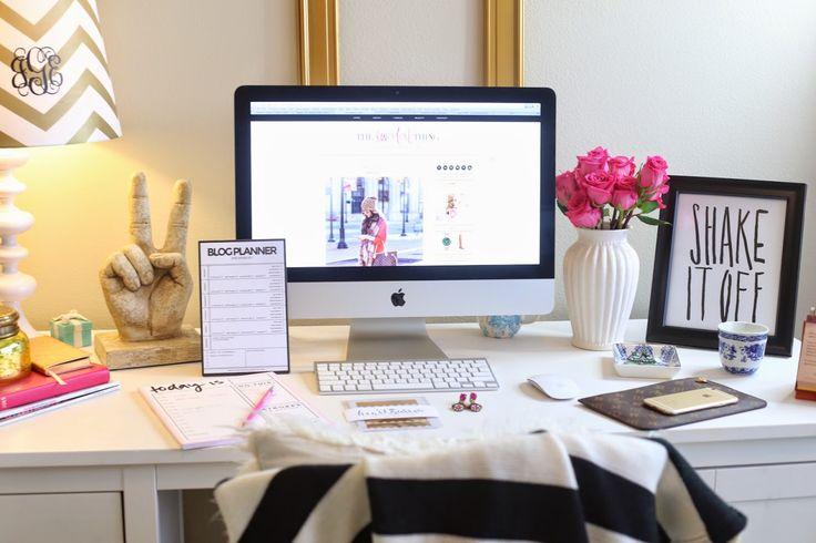 decoração-com-flores-home-office