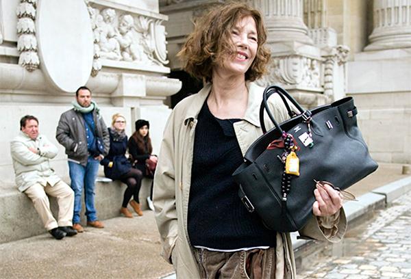 Jane Birkin com sua Birkin Hermès